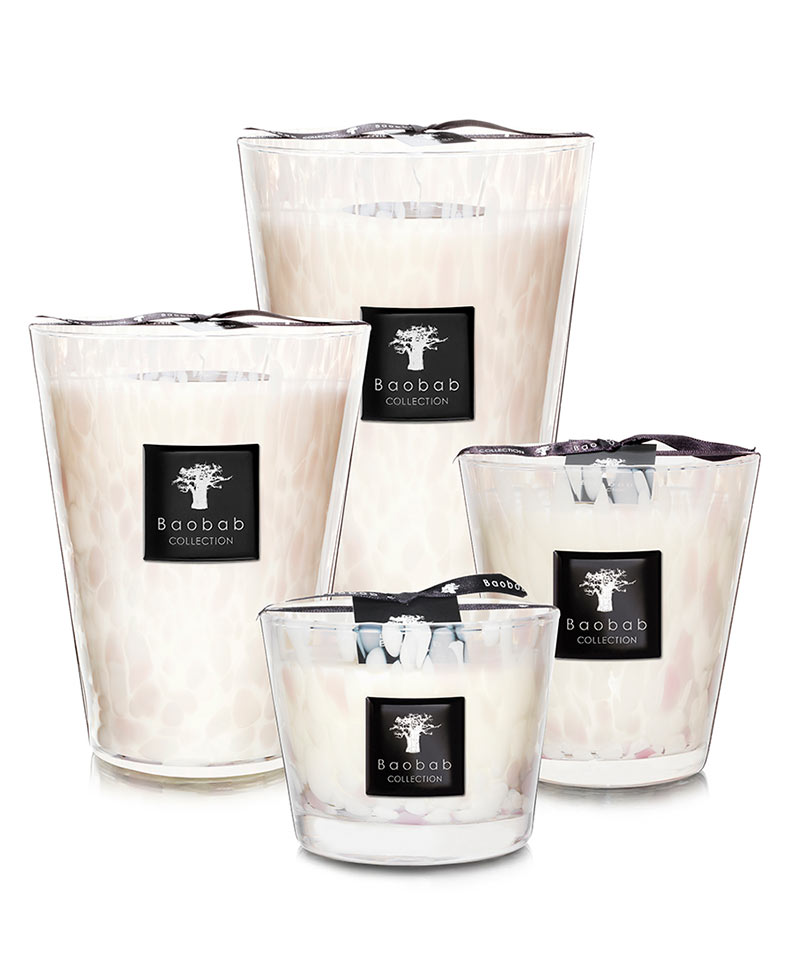 Baobab - White - Duftkerzen Pearls Collection