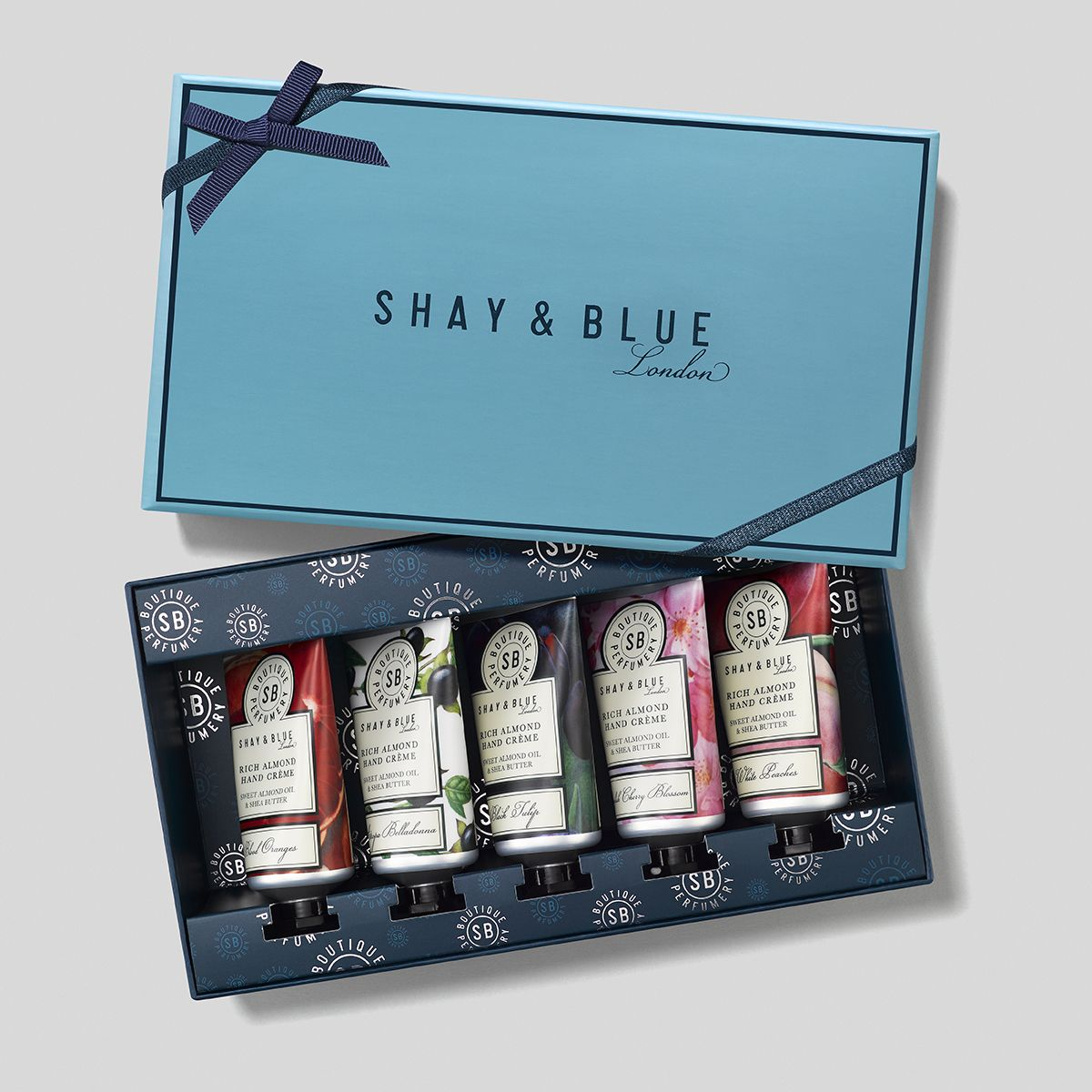 Shay & Blue – Rich Almond Hand Crème - Collection - Handcreme - 5 x 40 ml